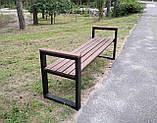 Лавочка парковая в стиле LOFT 2м DiVa05 скамья лавочка садовая скамейки, фото 4