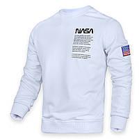 Свитшот мужской белый NASA №4 патч WHT L(Р) 20-524-001