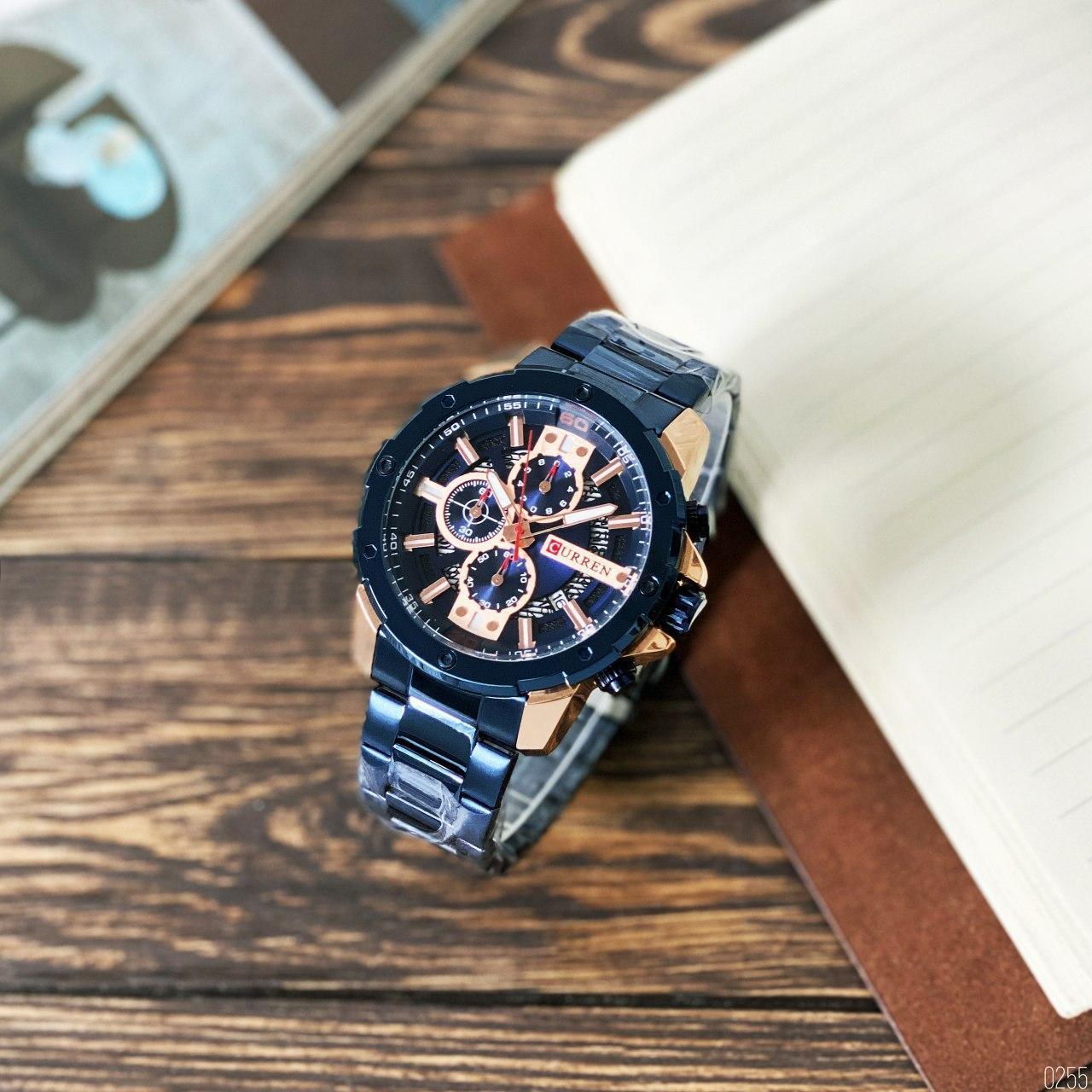 Наручные часы в стальном корпусе Карен синие