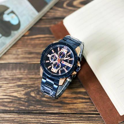 Наручные часы в стальном корпусе Карен синие, фото 2