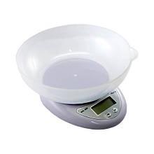 Весы кухонные электронные до 7кг, точность 1г, с чашей