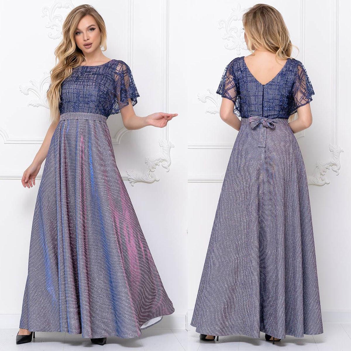 """Сукні фіолетові романтичні довгі вечірні ромзіри 42-52 """"Дольче"""""""