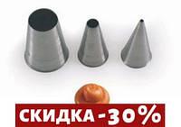Насадка для кондитерского мешка Martellato  d0,4 см нержавейка (BT204)