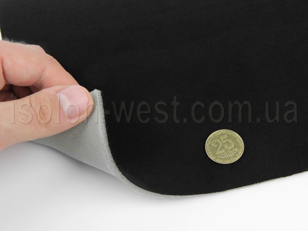 Високоякісний автовелюр (Туреччина чорний велюр), на поролоні і сітці, тягучий.
