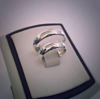 Серебряные классические обручальные кольца