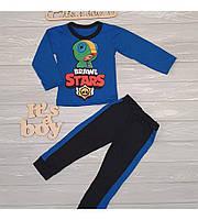 Тонкий костюмчик для мальчика BRAWL STARS 80-116см, Синий