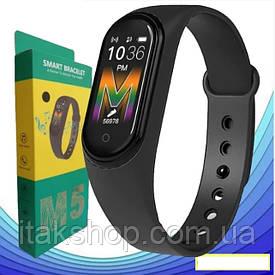 Фитнес браслет Xiaomi Mi Band M5 Black Фитнес трекер, смарт браслет, шагомер, пульс