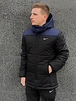 """Зимняя Куртка Nike """"Европейка"""" сине-черный, фото 1"""