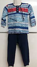 Пижама детская  для мальчика, синяя D&С fashion