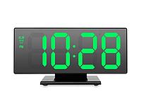 Настольные часы DS-3618L электронные с зеленой подсветкой