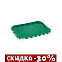 Поднос GastroPlast прямоугольный зеленый 35х26 см пластик (2635GR)