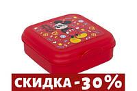 Ланчбокс/Сендвичбокс Herevin Disney Mickey Mouse 15х15 см h5 см пластик (161456-014)