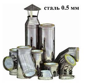Труба термо нержавійка/оцинкована сталь 0.5 мм