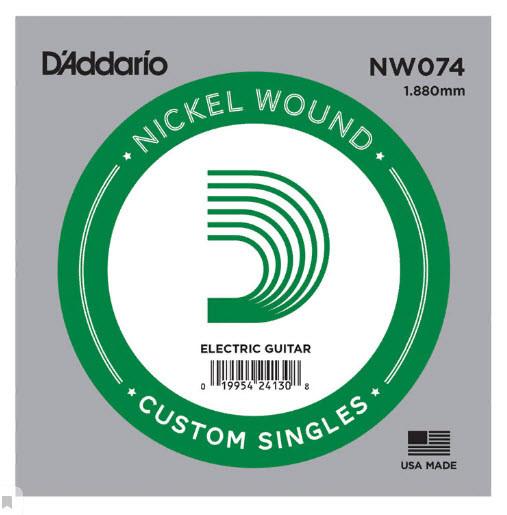 Струна для электрогитары D`ADDARIO NW074 XL Nickel Wound 074