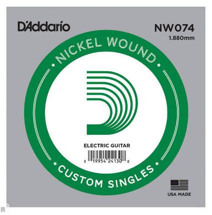 Струна для электрогитары D`ADDARIO NW074 XL Nickel Wound 074, фото 2