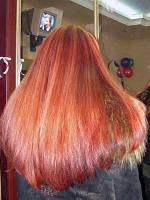 Коррекция длины волос в одну линию сложная, по вогнутой линии