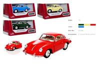 """Модель легковая KT5398W  5"""" Porsche 356 B Carrera 2 метал.инерц.откр.дв.4цв.кор./96/"""