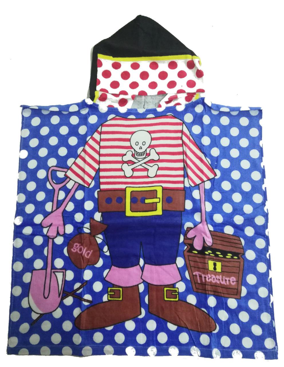 Детское пляжное полотенце - пончо