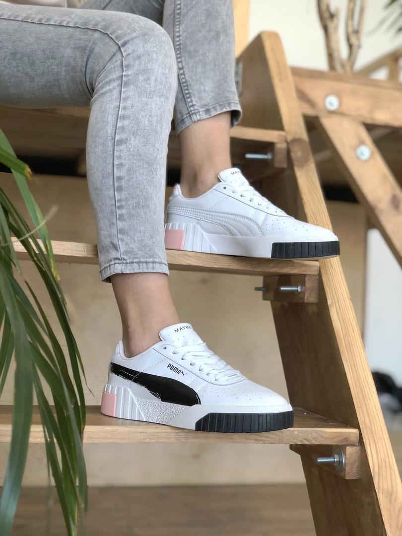 Кросівки Puma жіночі Cali білі. Модні жіночі кросівки Пума білого кольору.