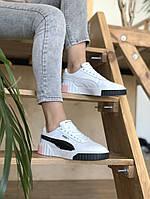 Кросівки Puma жіночі Cali білі. Модні жіночі кросівки Пума білого кольору., фото 1