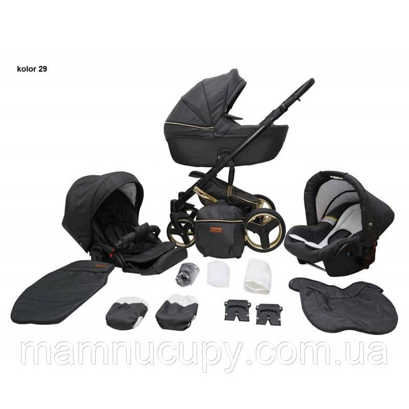 Детская универсальная коляска 2 в 1 Mikrus Comodo Gold 29