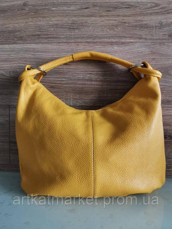 Vera Pelle made in Italy Брендовая Итальянская стильная желтая кожаная женская сумка 2020