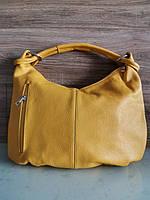 Vera Pelle made in Italy Брендовая Итальянская стильная желтая кожаная женская сумка 2020, фото 2