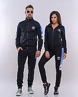 Комплект мужского и женского костюма черный с синим