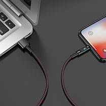 Кабель Hoco U47 Essence Core Power Off Lightning Cable Black, фото 3
