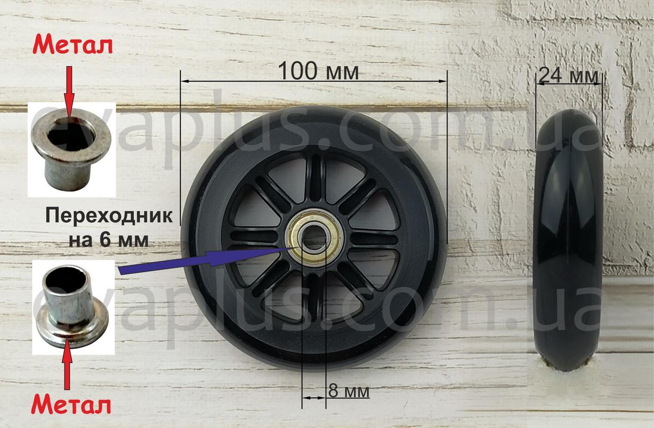 Колесо 100 мм. поліуретанове (чорне)