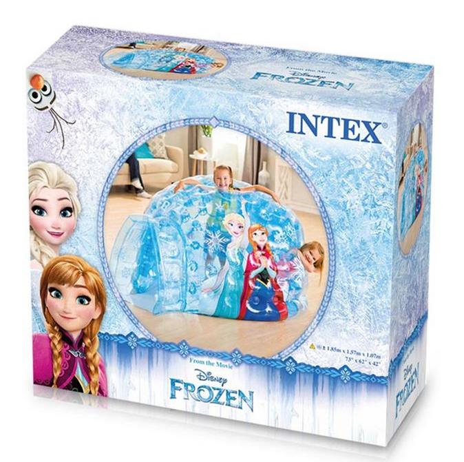 Игровой надувной центр Intex 48670 Frozen Домик Холодное сердце