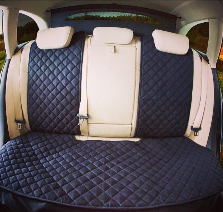 Накидки чехлы на сидения автомобиля из Алькантары Эко-замша задние универсальные защитные авточехлы Черные - фото 2