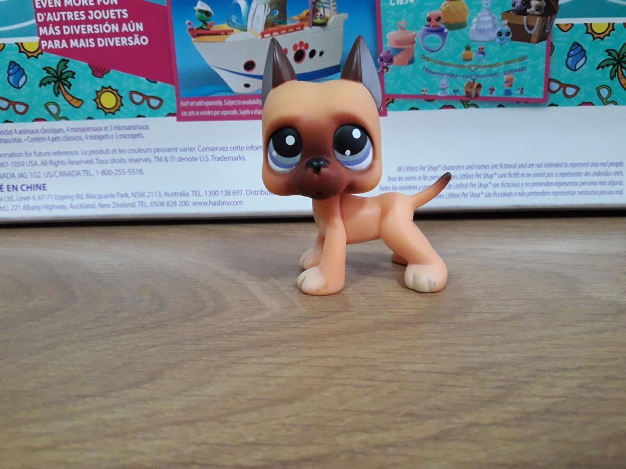 Lps littlest pet shop стоячки - лпс датский дог Hasbro №244 -старая коллекция