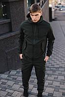 Комплект Куртка + Штаны Soft Shell хаки на флисе | Спортивный костюм мужской осенний демисезонный ТОП качество
