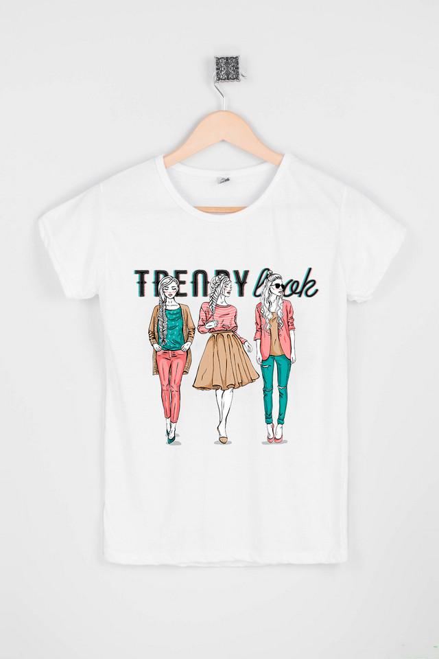 Жіноча біла футболка TRENDY LOOK