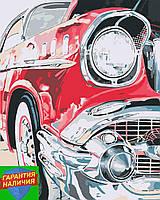 Картина по номерам Ретро авто (цветной холст) 40*50см Розпис по номерах