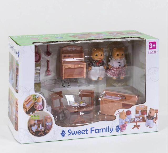 Набор мебель с фигурками Счастливая семья