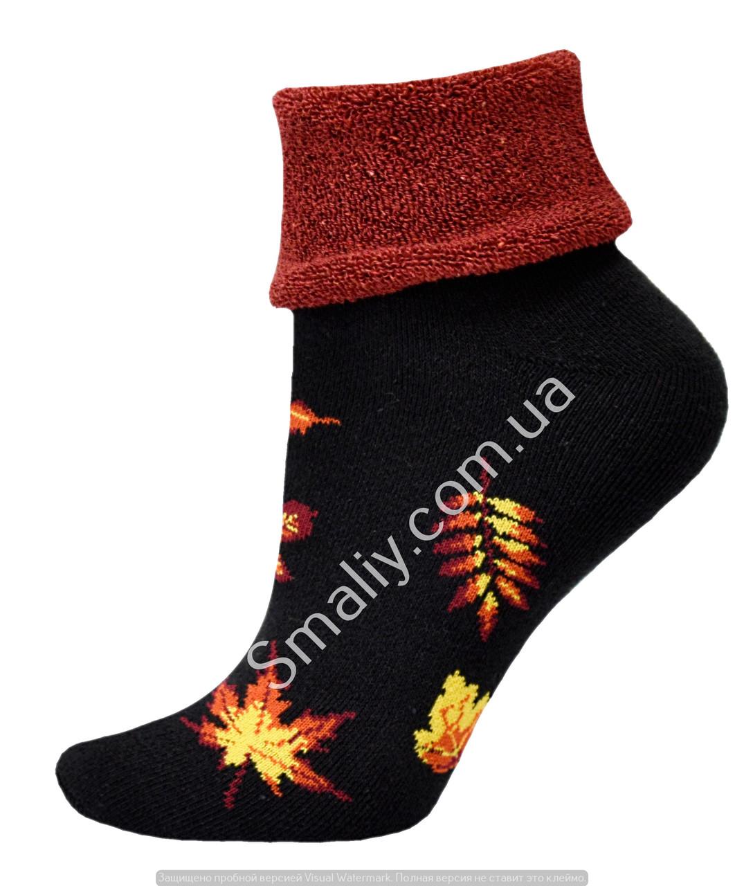 Носки оптом женские махровые с отворотом