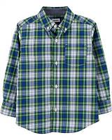 Сорочка в клітинку зелена 93
