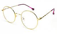 Очки круглые для зрения женские в металлической оправе