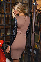 Комбинированное женское платье (2102 sk), фото 3