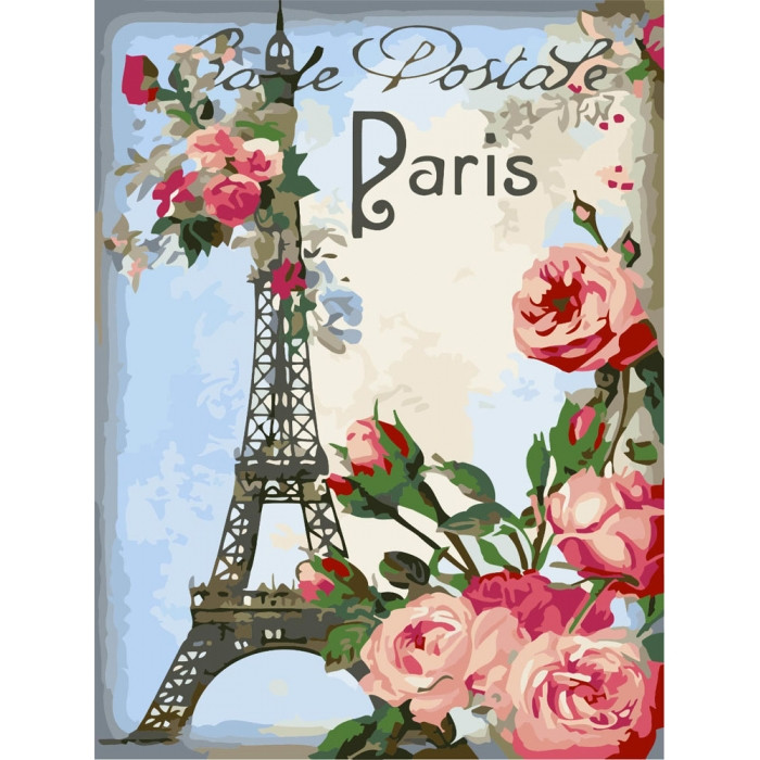 Картина по номерам Идейка - Привет из Парижа
