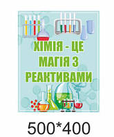 Таблички на двері в школі в кабінет хімії