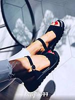 Черные замшевые босоножки 36 размер, фото 1