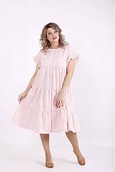 Легкое  платье с вышивкой прошва