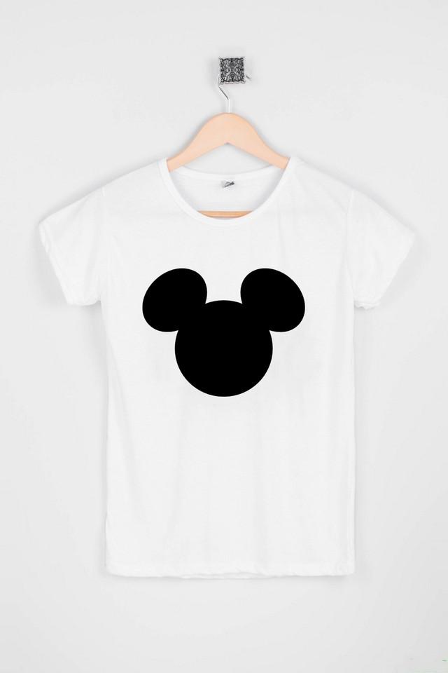 Жіноча біла футболка з Міккі Маус