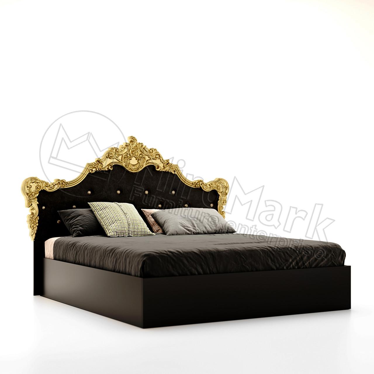 """Кровать 160*200  Дженифер от """"Миро-Марк"""" глянець черный"""