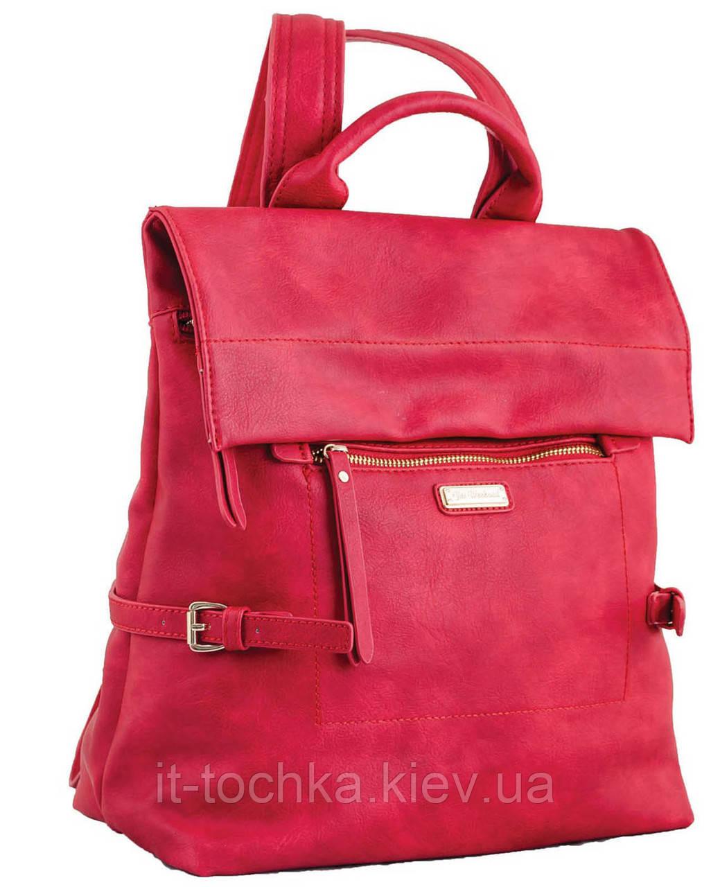 Сумка-рюкзак  yes, красный , 29*33*15см yes weekend 553225