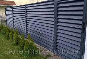 Металлический забор жалюзи, толщина 0.4 мм