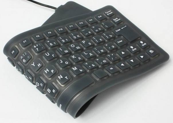 Cупертонкая резиновая гибкая USB-клавиатура, фото 2